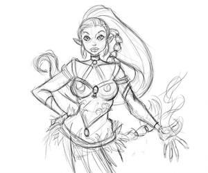 Elf Sketch  by partical0