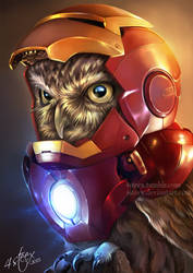 The Owlvengers - Iron Owl by 4steex