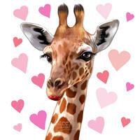 commission: giraffe by 4steex