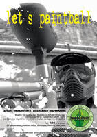 Flyer for paintball court by crossbow