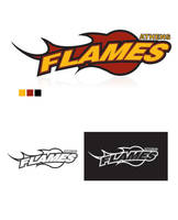 Athens Flames logo by crossbow