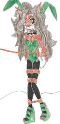 BUNNY SNARED Clawdeen Wolf of Monster High by Godzilla713