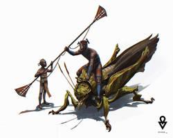 AT OL : Knights on bugs by ATArts