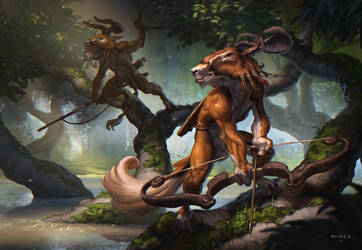 Faun  hunters by ATArts