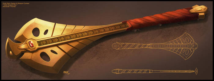 Vabbi Serpent Axe by ATArts