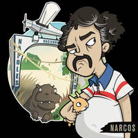 'Narcos' Pablo Escobar Character Design Fan Art by RiRoDoodles