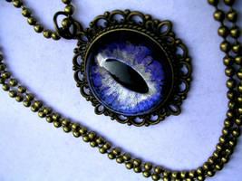 Violet Dream - Elegant Dragon Eye - Glow Nebula by LadyPirotessa