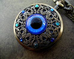 Ocean and Sky - Round Pupil Regal Pocket Watch by LadyPirotessa