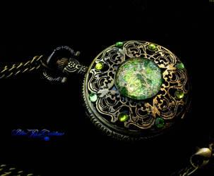 Betwixt Peridot Opal Pocket Watch - Dream Drop by LadyPirotessa