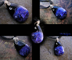 Mermaid Stone Painting - Necklace by LadyPirotessa