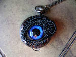 Special Custom Ordered Pocket Watch - Eye of Horus by LadyPirotessa