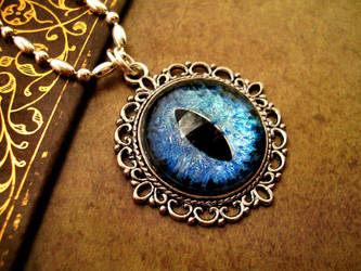 Sky Water Dragon Eye Pendant by LadyPirotessa