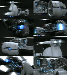 Blender - Lambreta XP70 WIP3 by SlykDrako