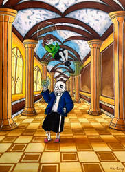 Sassy Sans In Judgy Hall by Mira-Image