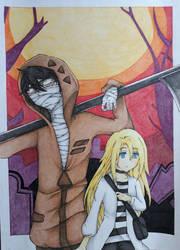 Ray and Zack (Satsuriku no Tenshi) Fanart by Rena983