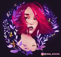 Flowery Girl by mkasartworks