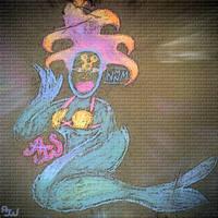 Sidewalk Mermaid by Kosmic-Stardust