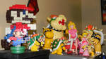 Bowser and Peach figurines collection by Kosmic-Stardust