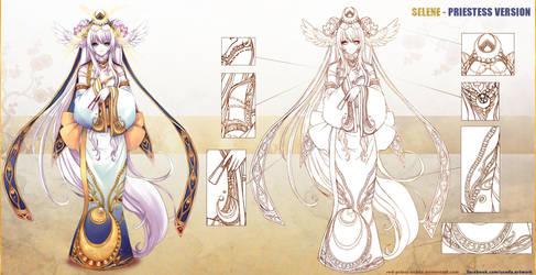 Selene - priestess version 2014 by Red-Priest-Usada
