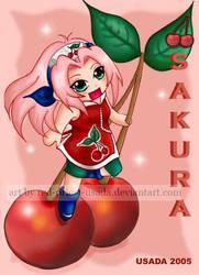 Chibi Fruit Ninja-Sakura by Red-Priest-Usada