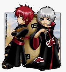 Gaara and Sasori-BLACK IS BACK by Red-Priest-Usada