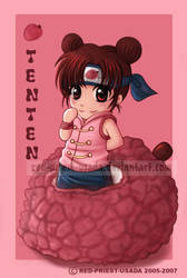 Chibi Fruit Ninja Tenten by Red-Priest-Usada