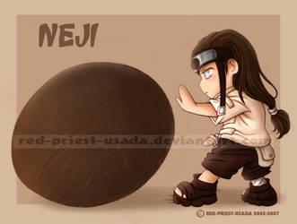 Chibi Fruit Ninja- Neji by Red-Priest-Usada