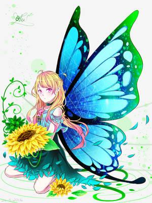 butterflyandflower by Kasanray