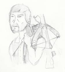 Daryl Dixon sketch by makushimu-kun