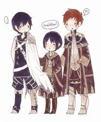 Chrom, Morgan and Robin by ruuari