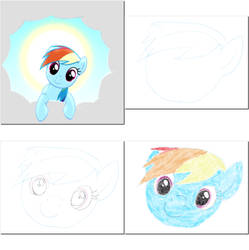 I draw Rainbow Dash by eyecreate89