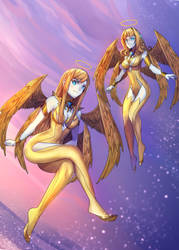 Purified Angel Assassin and Rider by Ibenz009 by DrgnmastrAlex