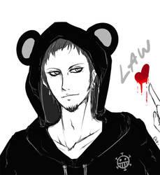 One Piece - Law Bearhood by youkokurama1