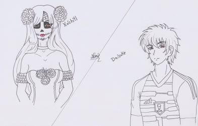 RQ- Xochitl x Daisuke [FB Request] by LoveDarkAlessha
