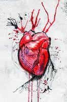 Bloody heart by j-vidanova