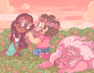 and a flower crown for Connie! by chibiirose