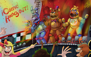 Freddy Fazbears Pizzeria Simulator | Fan Art by AngosturaCartoonist