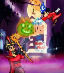 Mickey's House of Villains: Mickey vs Jafar by SmashFan1367