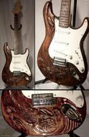 Eastern dragon guitar by EagleWingGallery