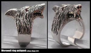 Werewolf ring - antiqued by EagleWingGallery