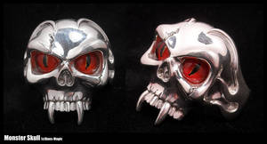 Monster skull ring by EagleWingGallery