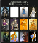 2015 Summary of Art by LeesiGalaxy
