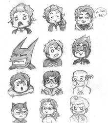 DC Expression sheet 1 by CrimsonEscapist