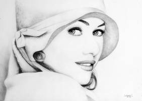 Naomi Watts_High Key drawing by salomnsm