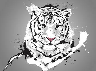 White tiger by dragonscreative