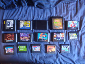 Sega Mega Drive and Game gear Game collection by JubeiTheFox1942