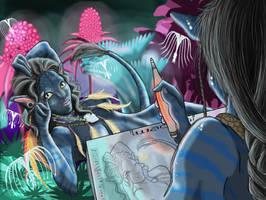 Draw me like a Sky Girl....WIP by AnimeJei