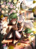 Sierra in the garden - commission by Gotenkai