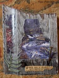 Waterfall Landscape Collage Barn Wood Wall Hanging by TreePruitt