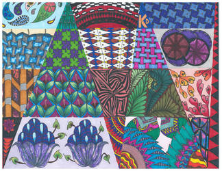 Colorful Zentangle by Eviant00